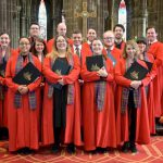 Colour photograph showing the members of the choir of Glasgow Cathedral (photo credit: Glasgow Cathedral)