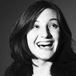 Black and white portrait photograph of Beth Taylor, mezzo-soprano
