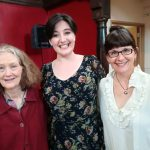 Colour photograph showing Beth Margaret Taylor together with Dame Emma Kirkby and Marcia Hadjimarkos after singing Haydn for them at a masterclass