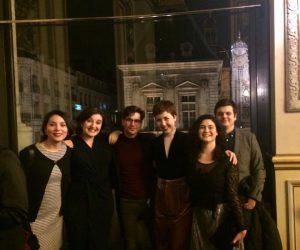Colour photograph showing the cast of La Belle au Bois Dormant, Opéra de Lyon 2018