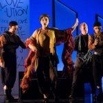 Colour photograph showing a scene from Monteverdi's L'incoronazione di Poppea at Longborough Festival Opera, 2018 (photo credit: Matthew Williams-Ellis for Longborough Festival Opera)