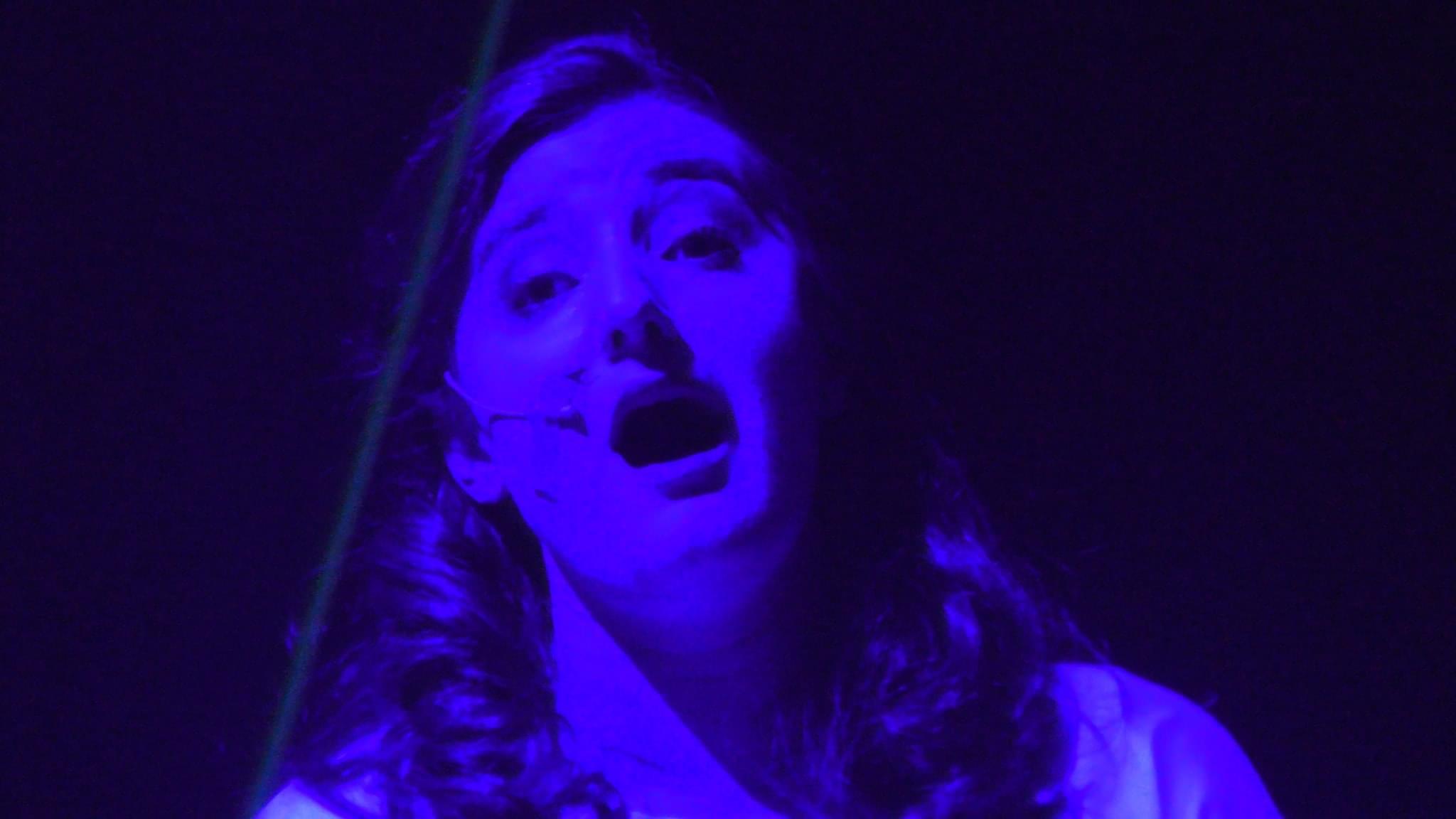 """As Erda in Deutsche Oper Berlin """"Aus dem Hinterhalt"""" performance, (photo credit: Helmut Fischer)"""