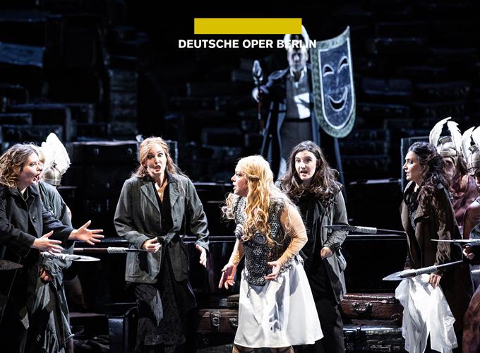 Scene from Die Walküre at Deutsche Oper Berlin, 2020 (copyright Bernd Uhlig)